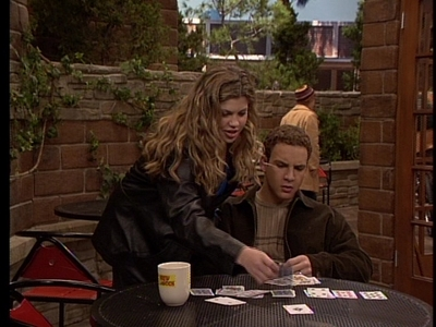 Ben Savage may not be my fav actor but he's a great actor. Ben playing cards with Danielle Fishel. :)