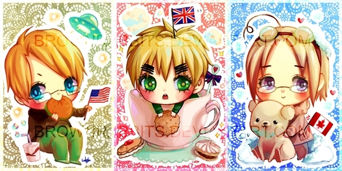 America,England and Canada from 헤타리아