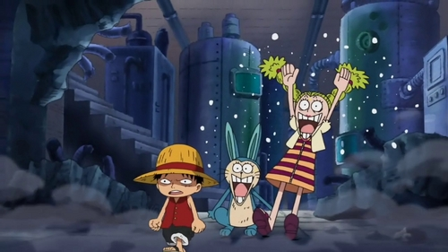 Luffy turns chibi in-universe after Gear Third. ^-^