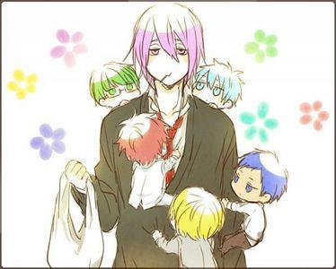 Midorima, Kuroko, Akashi, Aomine, and Kise from Kuroko no Basket.
