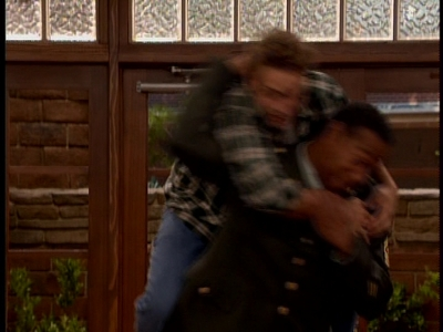 Quite blurry, Will Friedle jumping over the General's back!! XD