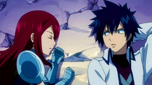 Straight from the Gray X Erza 팬 club: Gray and Erza!