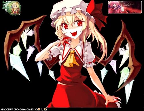 Flandre Scarlet! She's evil and tiny! :D