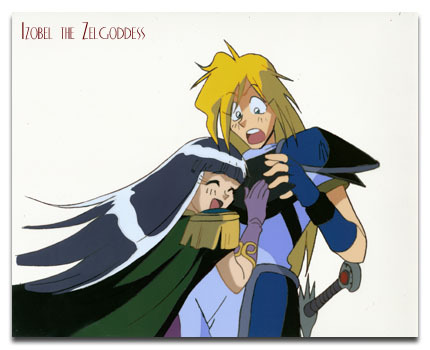 Gourry and Sylphael from Slayers.