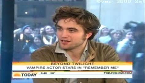Robert Pattinson on the Today show(from a couple of years ago,promoting Remember Me)