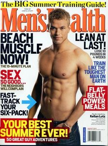 mine is Twilight star,Kellan Lutz on the cover of Men's Health magazine.