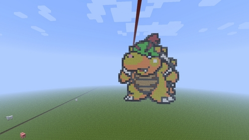 I think of Yoshi's Island, Baby Bowser, and this Pixel art I made. (Self advertising, like a boss.)