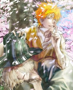 Ichigo and Urahara ^^ //Best pic I have at the moment...