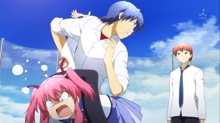 Not much comedy, but romantic! Angel Beats!