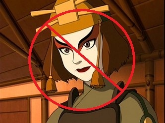 It would be Suki. -She's a Mary-Sue. She gets whatever she wants all the time. -Things always turn out perfect for her. Like when Sokka came to her rescue. -Her personality changes a lot. One মিনিট আপনি see her fighting like a ব্রেভ warrior should. The পরবর্তি মিনিট আপনি see her অভিনয় all girly and sweet. -She's always showing-off when Sokka's around like the time when she she ran past the prisnors and fought Ty lee and got the warden. She could have done that anytime. No only infront of Sokka.