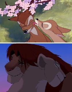 My first is Bambi, I seen it since I was 4. :) My favorito is The Lion King, I amor it!!! :D