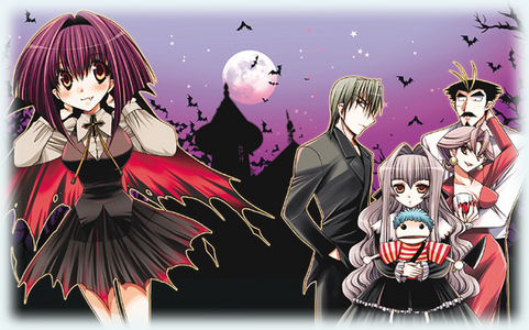 I'm not sure what Vampire Knight is really like, but Karin is an anime that has a cute vampire family in it ^-^.