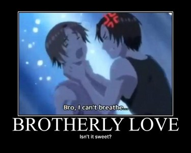 Hm...does the italian brothers count? Cause I don't think their that nice but Romano really wants to prove he's a better brother than Germany