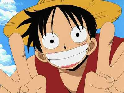 Monkey D.Luffy on every ep of One Pieceluffy is always smiling mostly on all the eps he is just keeps me in a good mood he never seems to be upset about anything