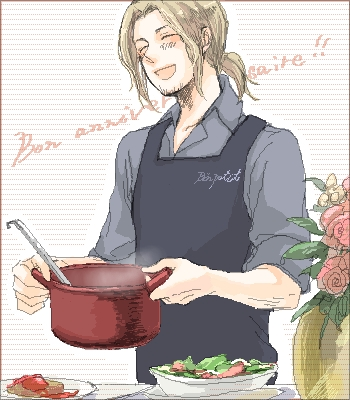 Iggy's adversary, France. Who is a much better cook than England. But at least Iggy's cuter. XD