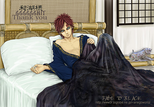 Eh,well....that's what I call an Anime character in a bed!Gaara's soo smexy! XD <3