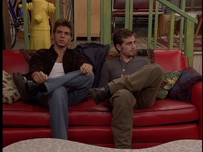 Matthew and Rider with their legs crossed. :P