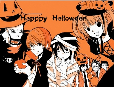 Okay so an Halloween related Anime picture..how about this Death Note Halloween picture!