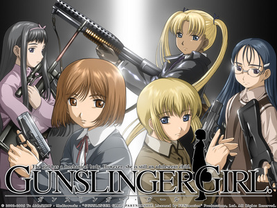Gunslinger Girls. This mostrar has got some really good gunfights in it, but I also find it almost too depressing to watch.