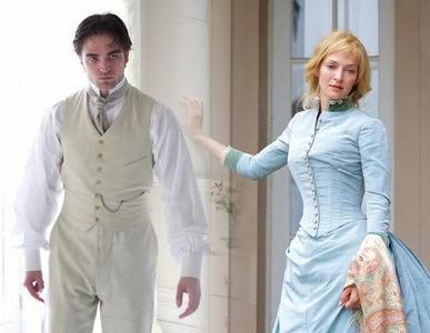 here is mine,of Robert Pattinson from a scene in Bel Ami wearing white.(Uma Thurman is also in picture)