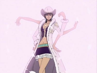 """My first thought was actually Nico Robin. She's calm, level-headed, and would save me with a patient and logical plan. If I were on her good side, I wouldn't hesitate to call her because I know I'd be in good hands. Lots and lots of good hands. I wouldn't want someone who's just """"hot"""" o a wild fighter to rescue me. I'd ask for somebody dependable."""