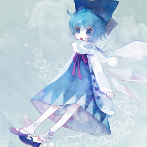 I'm not so familiar with Touhou, I only know a few characters...One of them is Cirno :D This picture is drawn por Pechika, I absolutely amor her works! :)