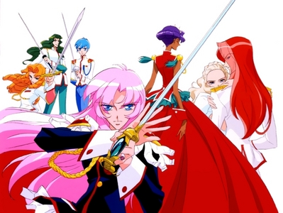 try Revolutionary Girl Utena. It's got Yuri, romance, action, comedie, music, adventure, english sub, english dub, cute girls, cute boys, sexy girls, and sexy boys. not sure if it has yaoi, but i wouldn't be surprised.
