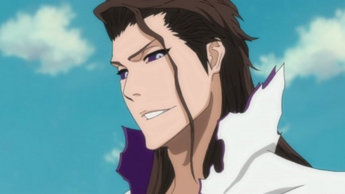 i couldn't think of any, so i had to cheat por googling it. Aizen from Bleach.