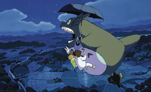 Personally I would go with My neighbor Totoro, thats such a cute movie, I amor it