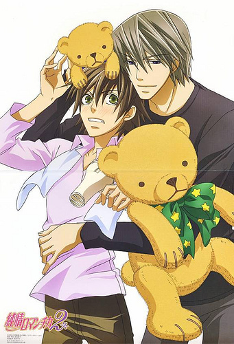 Junjou Romantica, both the anime and manga are great *starts drooling*