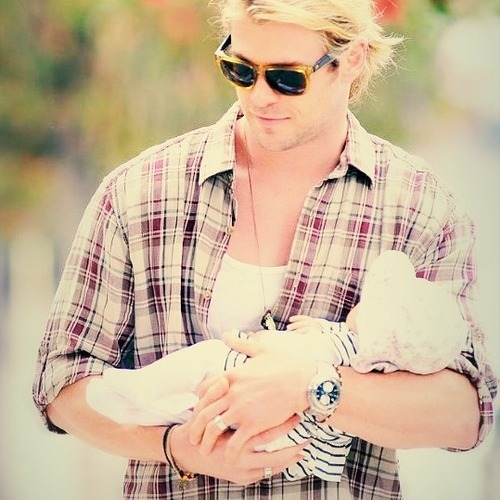Chris with his daughter India