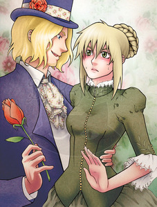 I can't get enough of this fanart couple <3 France x Fem!England ( I like this version of Fem!England much better than the official)