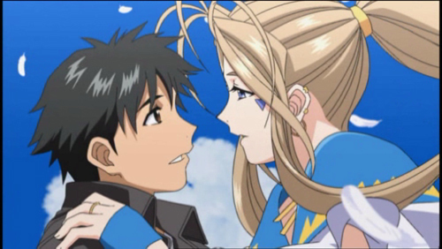I don't think there's a couple I'm еще into than Belldandy and Keiichi from Ah! My Goddess.