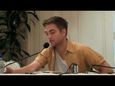 Robert Pattinson,doing press interviews for a movie