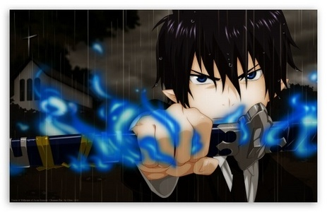 Rin from blue exorcist Though an epic leader would be Сикамару from Наруто