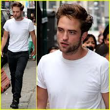 here is mine of Robert Pattinson wearing white shirt.