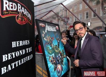 I think te can see Tony Stark here ... recitazione like Robert Downey Jr...^^