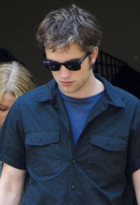 my handsome, gorgeous and sexy Rob wearing 2 blue shirts.