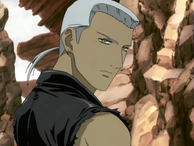 Tsume! just too HOT! and had white hair.