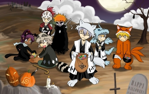 All righty here's a Bleach related Halloween picture!Hope anda like it!