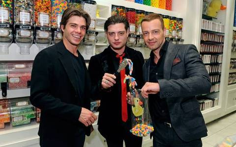 Matthew & his brothers, picking out candy. :)