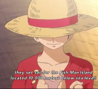 Аниме character that usually dresses in red..Luffy from One Piece comes to mind here.