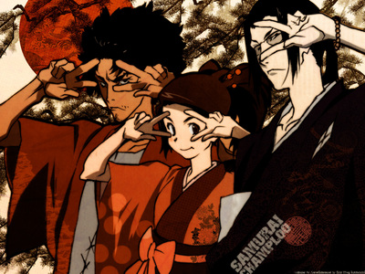 Samurai Champloo is hilarious... and has many fighting scenes. I loved it. ^^
