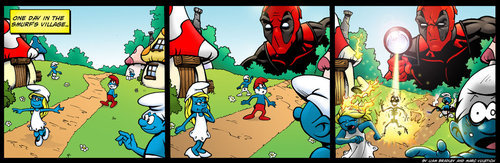 This pic makes me laugh every time. Ohhhh Deadpool..>w<