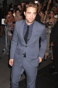 This is mine of Rob striking a model pose at the premiere of his movie,Cosmopolis.