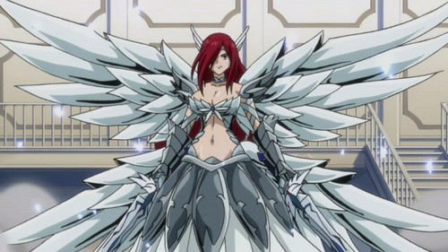 How about Erza frm Fairy Tail.............ha ha ;)