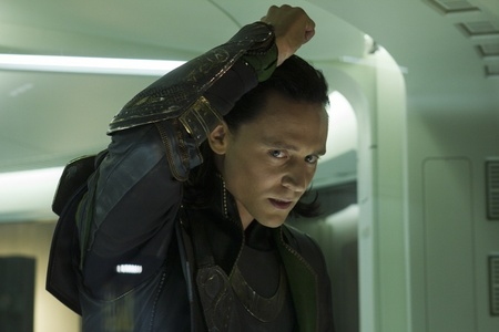 Loki, there's no bars but he is in a cage...