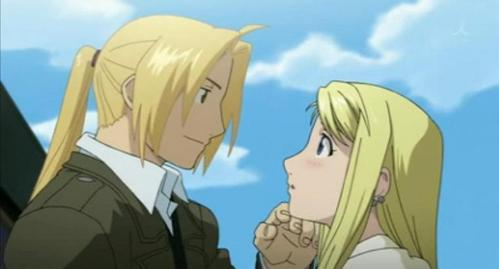 Ed and Winry one of the many spoilers of Brotherhood no one could keep secret for long XD