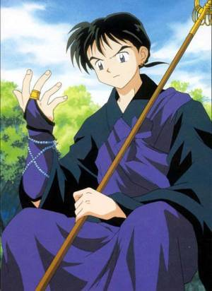 Miroku from InuYasha is a monk :)