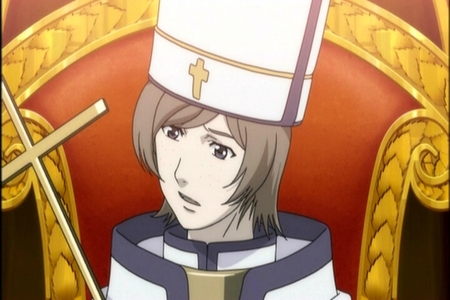 His Holiness Alessandro XVII the 399th Pope of Rome.From Trinity Blood.